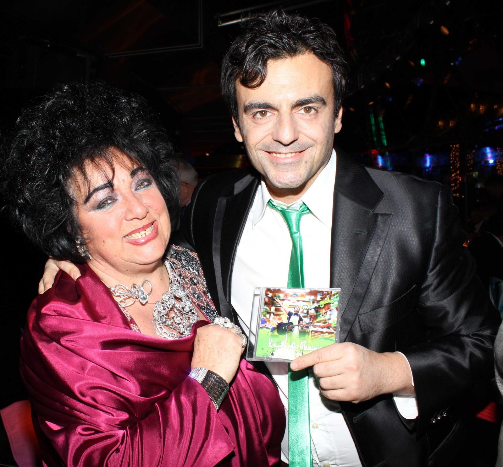 Davide De Marinis con Liz Taylor