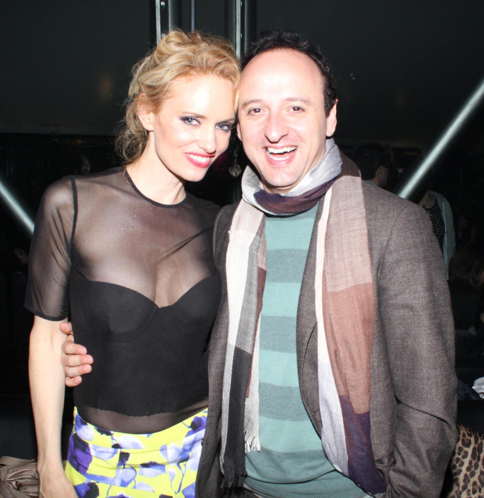 Justine con Christian Ginepro