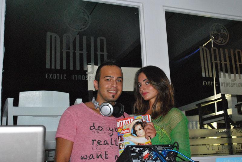 il Dj Andrea De Franchis con Ilaria Ventura
