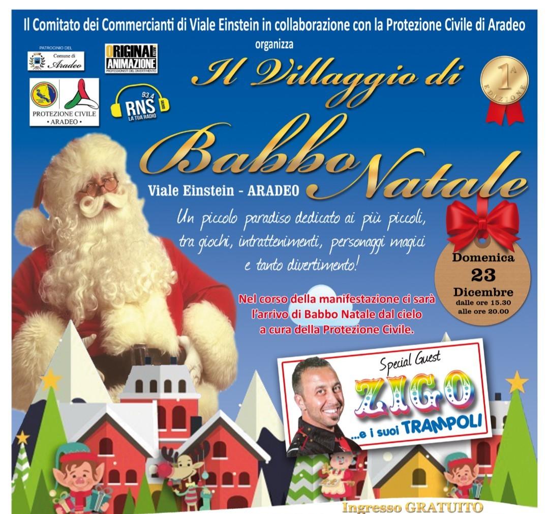 Babbo Natale Italy.Aradeo Le Il 23 Dicembre Arriva Il Villaggio Di Babbo Natale